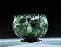 große seltene vase mit unterwasserdekor by heinrich hussmann