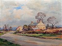 dales scene with farmhouse by owen bowen