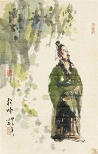 行吟图 by fu xiaoshi