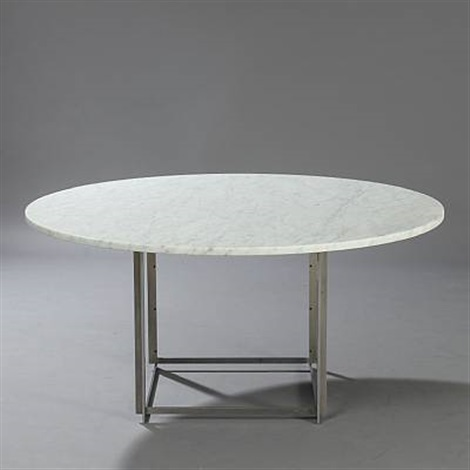 pk 54 circular dining table by poul kjaerholm