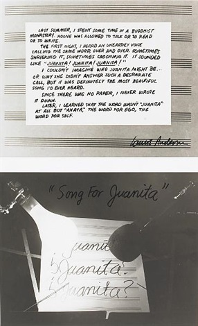 juanita in 2 parts by laurie anderson