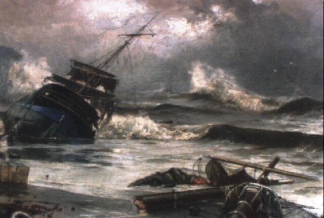 boceto de el naufragio by salvador abril y blasco