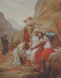 jeftas datter sorger med sine veninder by henrik benedikt olrik