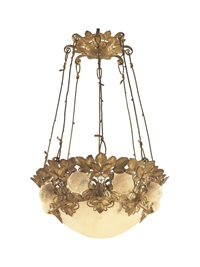 corbeille de roses chandelier by albert cheuret
