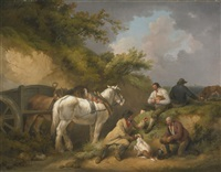 the labourer's rest by george morland