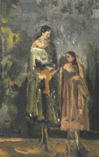 mother and daughter by alfred aberdam