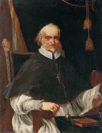 dreiviertelporträt eines prälaten, möglicherweise antonio montecatini, bischof von foligno by pietro da cortona