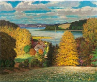 landscape with kellersee by leonhard boldt