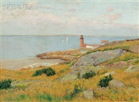 annisquam harbor lighthouse, gloucester by edmund elisha case
