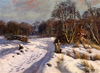 winterlandschaft by olaf viggo peter langer