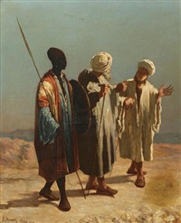 three orientalist figures by gaetano mormile