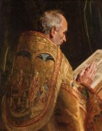 cardinal en prière by emile wauters