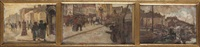 kattendijk antwerpen, schoonbekeplein antwerpen, oude leeuwenrui antwerpen (3 works) by emile gastemans