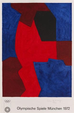 composition bleue rouge et noire by serge poliakoff