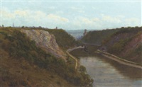 clifton suspension bridge, early evening by alfred oliver townsend