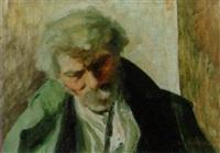 porträt eines alten grauhaarigen maanes mit schnurrbart by josé fabri-canti