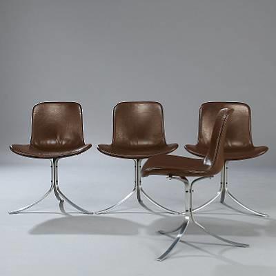 pk 9 side chairs set of 4 by poul kjaerholm