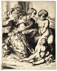 die heilige familie (after andrea del sarto) by pierre brebiette