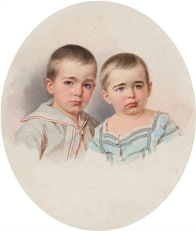 portrait of count pavel sergeevich sheremetev and count piotr sergeevich sheremetev by vladimir ivanovich hau