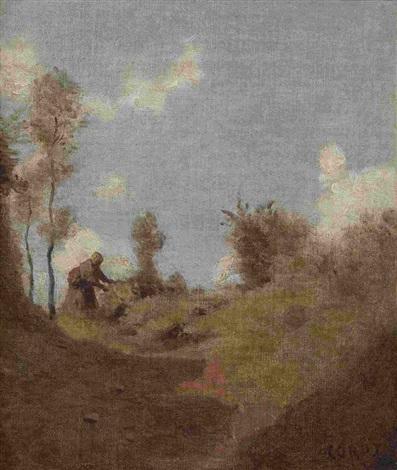 sentier tortueux sur un plateau by jean baptiste camille corot