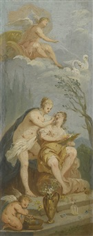 two studies for the toilet of psyche by french school (18)