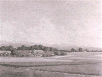 landschaft bei herrenschwanden by m. glauser