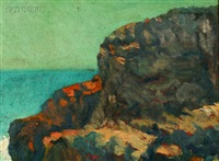rocks at marblehead by charles avery aiken