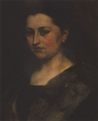 bildnis von fräulein julie müller by wilhelm von lindenschmit the younger