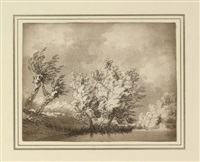 trees (study; + 10 others; 11 works) by john robert cozens