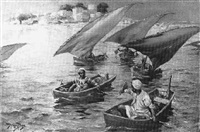 feleccas on the nile by frederick-davenport bates