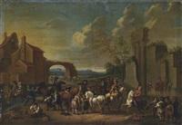a horse fair by carel van falens