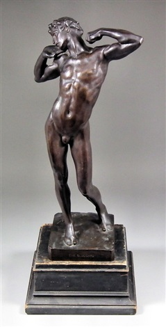 standing figure of a naked young man by lord frederick leighton
