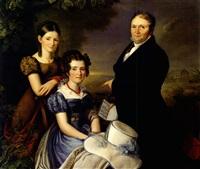portrait der aachener familie vonderbank by carl adolf mende