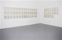 42 + 19 = 61; - arbeit ii/i (in 42 parts)(+ 19 + 42 = 61; - arbeit i/ii (in 19 parts), smllr; 2 works) by hanne darboven