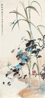 花卉草虫 立轴 设色纸本 by wu qingxia