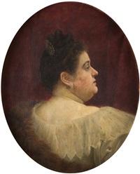 retrato de dama de perfil by federico amutio