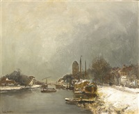 a canal in winter by louis apol