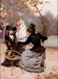 conversation au bois by etienne-albert-eugène joannon
