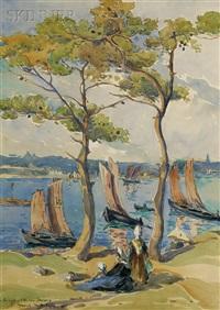 les régates de l'ile aux moines by marcel mettenhoven