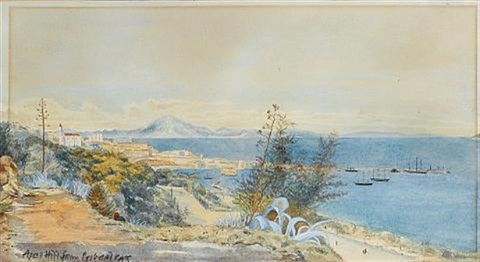 the north african coast and jebel musa apes hill from gibraltar by john miller general sir adye