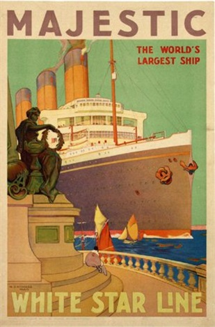 white star line quotmajesticquot by william james aylward