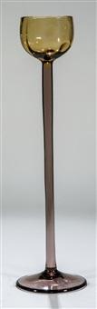 seltenes hochstieliges sherryglas ''meteor'' by koloman (kolo) moser