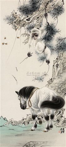monkey and horse by li tang