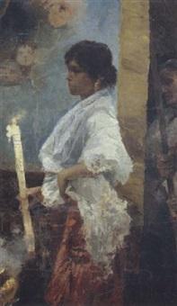 ragazza in processione by elda borzino