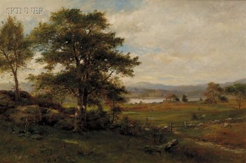 view of wachusett from harvard by george frank higgins