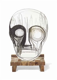 working title (oilbar mask) by thomas houseago