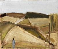 figure in a landscape by johannes hofmeister
