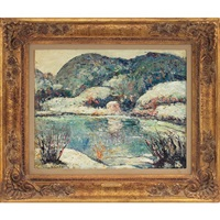 winter in the berkshires by ernest lawson