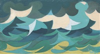 linee forza di mare by giacomo balla