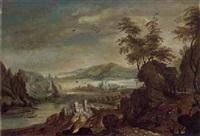 gebirgige flusslandschaft by kerstiaen koninck